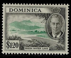 DOMINICA GVI SG133, $1.20 emerald & black, M MINT.