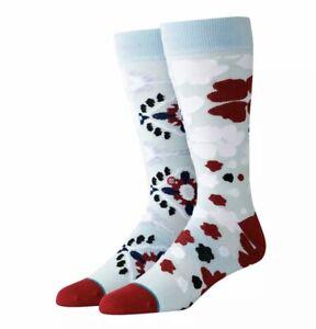 STANCE Floral Splice Dress Crew Socks Men's M Medium (6-8.5) Brand New With Tag