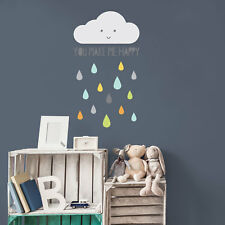 Happy cloud wall sticker | Nursery wall stickers | Stickerscape | UK
