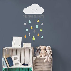 Happy cloud wall sticker   Nursery wall stickers   Stickerscape   UK