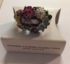 Avon Texture Flowers Double Ring Small Size 5-6