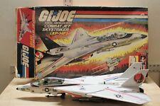 Vintage 1983 GI Joe Skystriker Fighter Jet Airplane With Box Mostly Complete