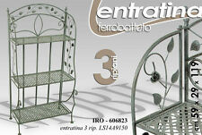 ENTRATINA IN FERRO BATTUTO 3 RIPIANI H119 CM INGRESSO SALOTTO IRO-606823