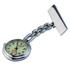 Nurse Clip-on Brooch Pendant Quartz Hanging Luminous Pocket Watches