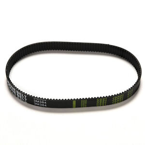 Replacement 384mm Length Drive Belt HTD 384-3M-12 Escooter Electric Scooter B`sf