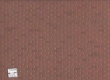 "Rough Brown Brick Sheet  - 1/12 scale Model Builders Supply MF107 - 14""x24"" 1pc"