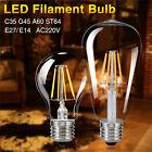 E27 E14 4/8/12/16W Edison Retro Filament COB LED Bulb Vintage Candle Light Lamp