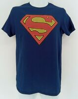 Superman Mens T-Shirt Blue DC Comics Officially Licensed Size S