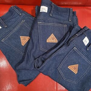 Lot Of THREE (3) NWT Bulwark FR Flame Resistant Denim Jeans Men's 32x32 PEJ2DD5
