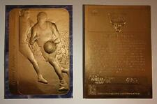 1986 MICHAEL JORDAN FLEER STICKER ROOKIE 23K GOLD CARD - Blue Sky Border