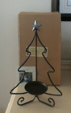 Longaberger Wrought Iron Christmas Tree Candle Stand With Box Item 71562 New
