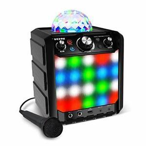 ION Party Rocker Effects – Portable Bluetooth Speaker Machine with Karaoke Mi...