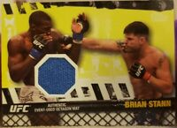 Brian STANN Steve CANTWELL 2010 Topps UFC UFN 19 Fight Used Octagon Mat Relic SP