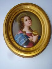 19th Century Oval Painting On Porcelain Of A Religious Subject