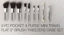 "MICRO BEAUTY MINI POCKET 9 PC BRUSH SET - Portable Compact 3"" Brushes"