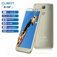 "CUBOT X18 18:9 Smartphone Quad Core 5.7"" HD 3+32GB 13MP 3200mAh 4G LTE Móvil"