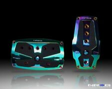 NRG Innovations PDL-250MC Neochrome Aluminum Sport Pedal with Black Rubber Inser