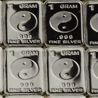 Lot 30 X 1 Gram  .999  Fine Silver Bar Bullion   / Tai Chi      WPT399 oz