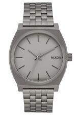 Nixon Men's Time Teller A0453166-00 37mm Gray Dial Stainless Steel Watch