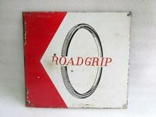 Vintage Old Rare Collectible Road Grip Tyre Ad Porcelain Enamel Sign Board India