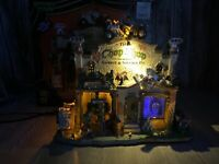 Lemax 25323 THE CHOP SHOP GARAGE & SALVAGE CO. Spooky Town Sound Dont Work