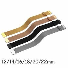 12-22mm Magnetic Clasp Milanese Mesh Loop Band Stainless Steel Metal Watch Strap