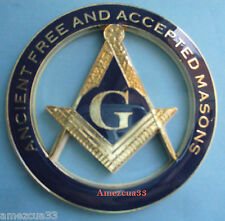 Master Mason AF&AM Cut out Car Emblem Blue Lodge Masonry Auto Rear Decal Masonry
