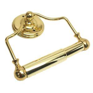 """AMEROCK Solid Brass 6"""" Bathroom Hanging Toilet Paper Holder Polished Brass"""