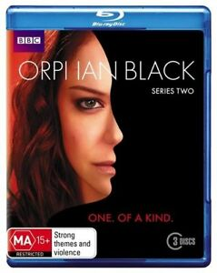 Orphan Black : Series 2 (Blu-ray, 2014, 3-Disc Set)Excellent Condition
