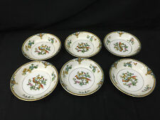 """VINTAGE LOT 6 1921 NORITAKE COVENTRY BIRD OF PARADISE BERRY BOWLS 5.25"""""""