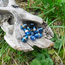 16 Perles de verre Lampwork Olive
