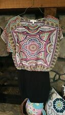 Women's Dress Size M Turquoise Black Red Lime Green Gorgeous Really Cute Style