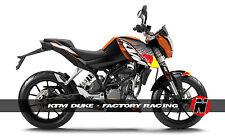 KTM Duke 200 / 125 Custom Sticker Graphic Decals Kits