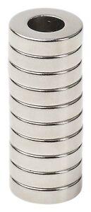 "Lot  25 50 100 1/2 x 1/8 hole 1/4"" Neodymium Rare Earth Ring/Donut Magnets N48"