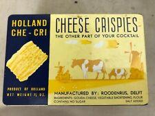 Holland Che-Cri Cheese Crispies empty tin