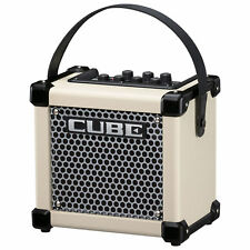 Roland Micro Cube GX Ultra Compact Battery Powered Combo Guitar Amplifier, White