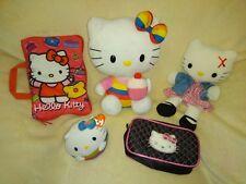 Hello Kitty Bundle. Secret Pillow, Plush Puppet, Beaneez Ball
