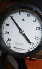 Ashcroft Duragauge Gauge Pressure Vaccum 0-30 Psi Bronze Tube Brass Socket Braze