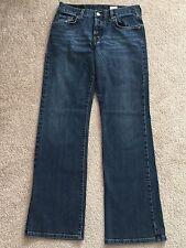 Lucky Brand Women's Jeans Button Fly Dark Wash Ladies Denim SZ 4 / 27 81LY061
