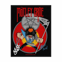 MOTLEY CRUE Allister Fiend Woven Sew On Patch Official Licensed Band Merch