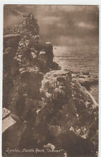 VINTAGE POSTCARD OF SUNSET CASTLE ROCK LYNTON POSTED 1919