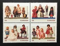 Canada #1274-1277a MNH, Cultural Treasures - Dolls Block of Stamps 1990