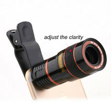 Fashion 8X Zoom Telephoto Camera Phone Clip-on Telescope Lens For Cellphone