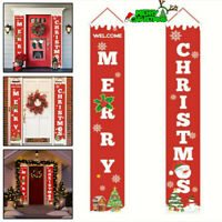 Merry Christmas Banner Wall Hanging Door Curtain Home Party Xmas Decoration Gift