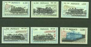 Monaco 1968 SG 914-9 Nice to Monaco  Railway Centenary  MH