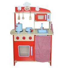 Kidzmotion La Cuisine Moyen (medium) Unisex  Red Wooden Toy Pretend Play Kitchen