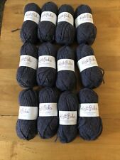 12 Skeins Knit Picks Wool Of The Andes Worsted Yarn - Mineral Heather