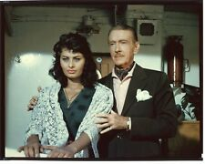 SOPHIA LOREN CLIFTON WEBB Original Vintage 1957 Studio 8x10 Color Transparency