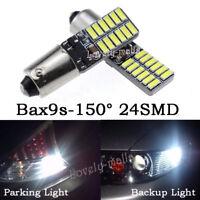 2pcs Xenon White Error Free 64132 H6W LED Bulbs Parking Lights For Audi Benz VW
