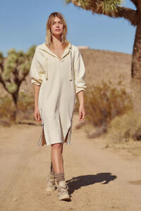 New ! Free People Movement Spur of the Moment Solid Hoodie Zipper Msrp148usd